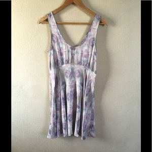 Free people pastel watercolor embroidered dress